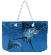 Double Header Makaira Nigricans, Blue Weekender Tote Bag