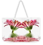 Double Pink Gerbera Flood Weekender Tote Bag