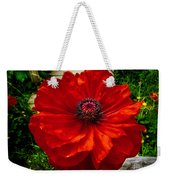 Double Poppy Weekender Tote Bag