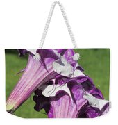 Double Purple Datura 8 Weekender Tote Bag