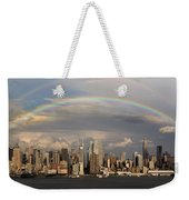 Double Rainbow Over Nyc Weekender Tote Bag