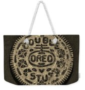 Double Stuff Oreo In Sepia Negitive Weekender Tote Bag