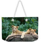 Double Trouble Weekender Tote Bag
