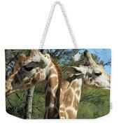 Giraffes With A Twist Weekender Tote Bag