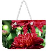 Doubled Red Mums Weekender Tote Bag
