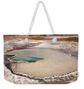 Doublet Pool In Upper Geyser Basin In Yellowstone National Park Weekender Tote Bag
