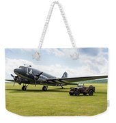 Douglas C-47a Skytrain Ready For D-day Weekender Tote Bag