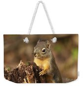 Douglas Squirrel On Stump Weekender Tote Bag