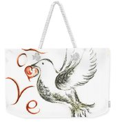 Dove Of Love Weekender Tote Bag