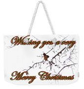 Dove - Snowy Limb - Christmas Card Weekender Tote Bag