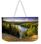 Down Hill Into Fall Weekender Tote Bag