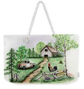 Down On The Farm Weekender Tote Bag by Lena Auxier
