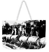 Down The Drain Weekender Tote Bag by Bill Cannon