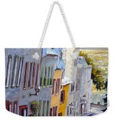 Down The Hill Old Quebec City Weekender Tote Bag