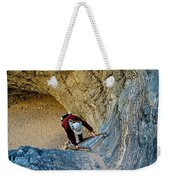 Down The Ladder In Big Painted Canyon Trail In Mecca Hills-ca  Weekender Tote Bag