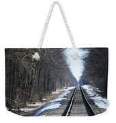 Down The Rails Weekender Tote Bag