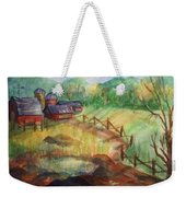 Down The Road A Piece Weekender Tote Bag