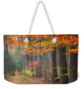 Down The Trail Square Weekender Tote Bag by Bill Wakeley