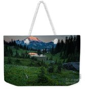 Down The Valley To Rainier Weekender Tote Bag