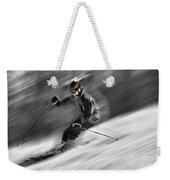 Downhill Skier  Weekender Tote Bag by Dan Friend