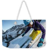 Downhill Skiier In Portillo, Chile Weekender Tote Bag