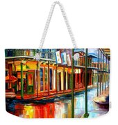 Downpour On Bourbon Street Weekender Tote Bag by Diane Millsap