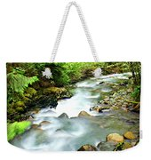 Downstram In The Olympics Weekender Tote Bag