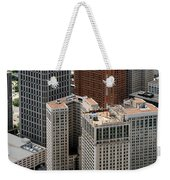 Downtown Aerial Of Detroit Michigan Weekender Tote Bag