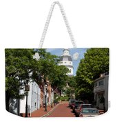 Downtown Annapolis With Maryland State House Cupola Weekender Tote Bag
