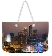 Downtown Atlanta Skyline At Dusk Weekender Tote Bag