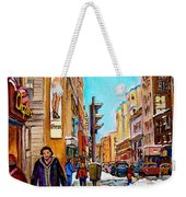 Downtown City Life Weekender Tote Bag