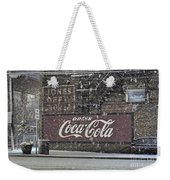 Downtown Covered In Snow Weekender Tote Bag