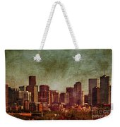 Downtown Denver Antiqued Postcard Weekender Tote Bag