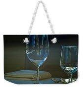Downtown Dining Weekender Tote Bag by Christi Kraft