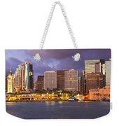 Downtown Honolulu Hawaii Dusk Skyline Weekender Tote Bag