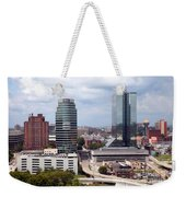 Downtown Knoxville Tennessee Skyline Weekender Tote Bag