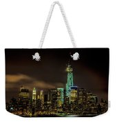 Downtown Manhattan At Night Weekender Tote Bag