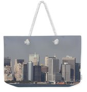 Downtown Manhattan Shot From The Staten Island Ferry Weekender Tote Bag