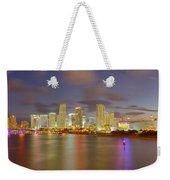 Downtown Miami And Aaa Weekender Tote Bag