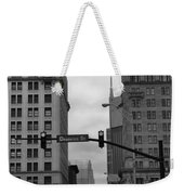 Downtown Nashville In Black And White Weekender Tote Bag by Dan Sproul