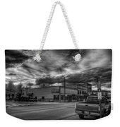 Downtown Sandpoint In Infrared 2 Weekender Tote Bag