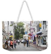 Downtown Scene In Provincetown On Cape Cod In Massachusetts Weekender Tote Bag