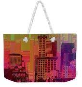 Downtown Seattle Cubed 1 Weekender Tote Bag