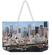 Downtown Seattle Washington City Skyline Weekender Tote Bag