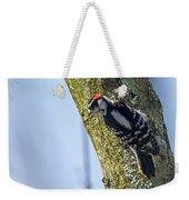 Downy Woodpecker - Male Weekender Tote Bag