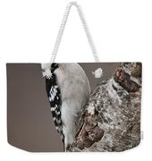Downy Woodpecker Pictures 11 Weekender Tote Bag