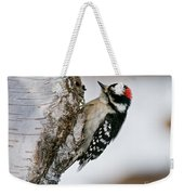 Downy Woodpecker Pictures 26 Weekender Tote Bag