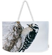 Downy Woodpecker Pictures 27 Weekender Tote Bag