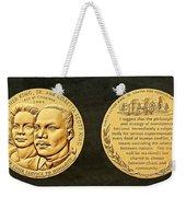 Dr Martin Luther King Jr And Coretta Scott King Bronze Medal Art Weekender Tote Bag