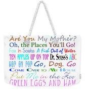 Dr Seuss Books 3 Weekender Tote Bag